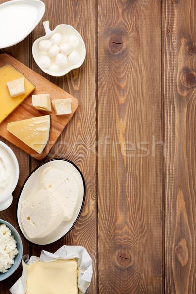Crème lait fromages yogourt beurre Photo stock © karandaev
