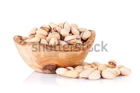 Noix bol isolé blanche fond semences Photo stock © karandaev