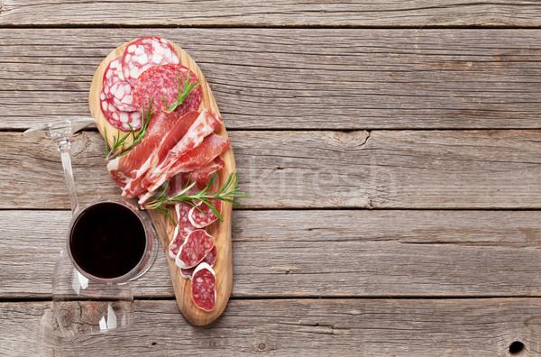 サラミ ソーセージ プロシュート ワイン ハム ストックフォト © karandaev