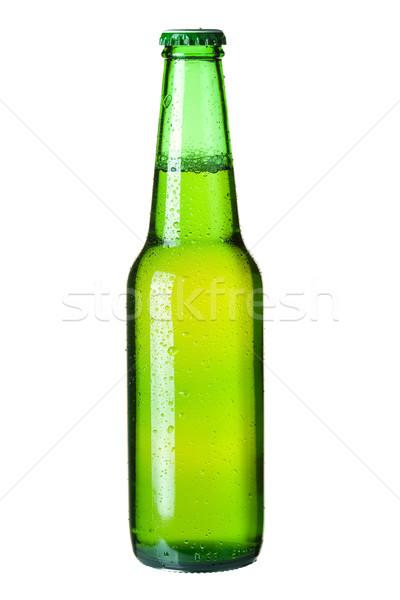 Lager beer in green bottle Stock photo © karandaev
