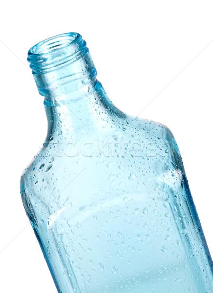 Blue bottle closeup Stock photo © karandaev