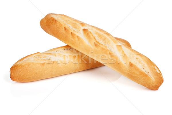 Français baguette isolé blanche blé déjeuner Photo stock © karandaev