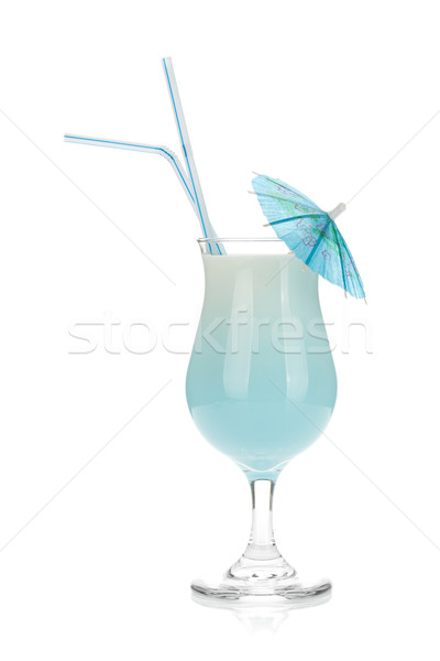 Blue coconut cream cocktail Stock photo © karandaev