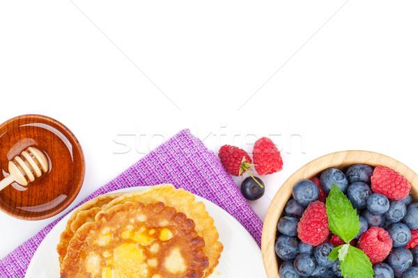 Frambuesa arándano menta miel jarabe Foto stock © karandaev