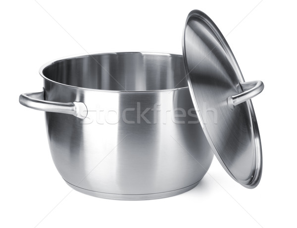 Stainless steel pot with cover Stock photo © karandaev