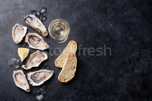 лимона белое вино льда каменные Сток-фото © karandaev