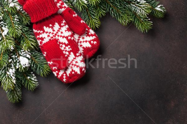 Natale muffole pietra top view Foto d'archivio © karandaev