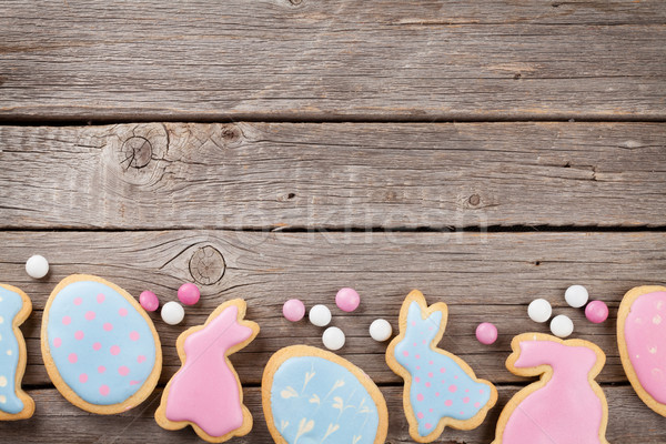 Easter gingerbread cookies Stock photo © karandaev