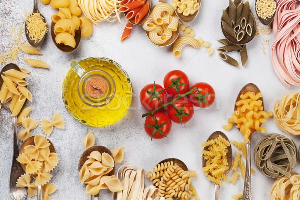 различный пасты приготовления Top мнение продовольствие Сток-фото © karandaev
