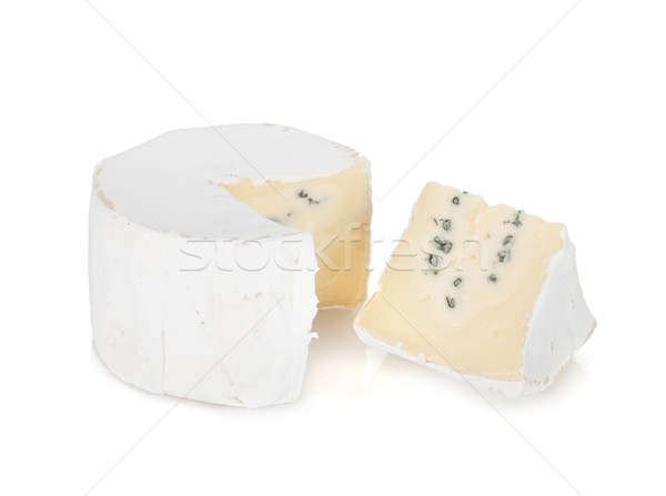 A piece of soft brie cheese Stock photo © karandaev