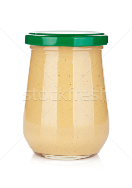 горчица стекла бутылку изолированный белый Салат Сток-фото © karandaev