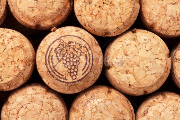 Foto stock: Champanhe · vinho · textura · comida · madeira · grupo