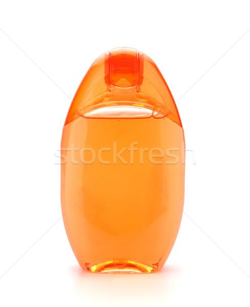 Arancione shampoo bottiglia isolato bianco corpo Foto d'archivio © karandaev