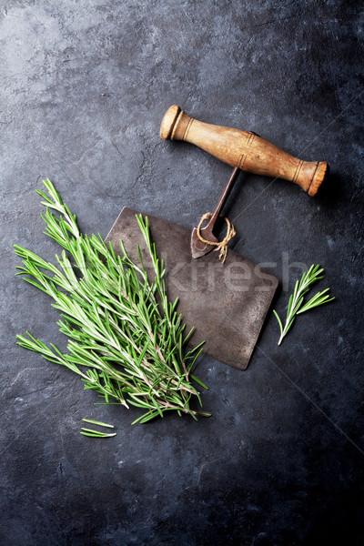 Biberiye ot otlar baharatlar pişirme Stok fotoğraf © karandaev