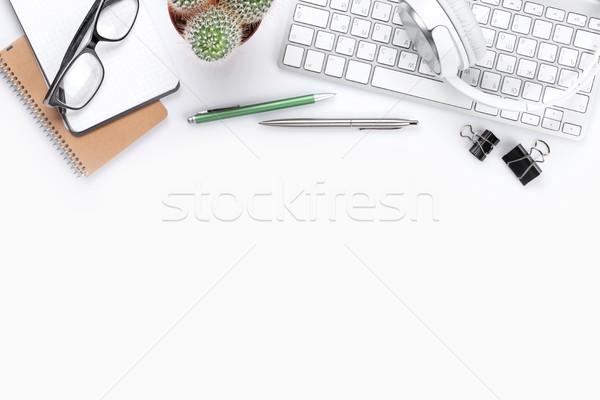 白 計算機 頂部 視圖 商業照片 © karandaev