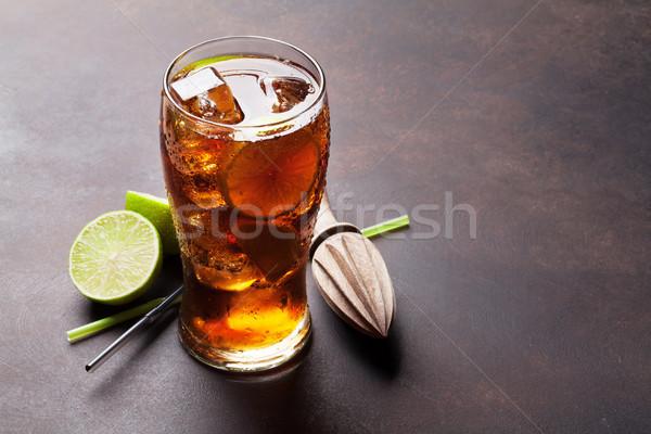 Cuba cocktail verre espace de copie fête bar Photo stock © karandaev