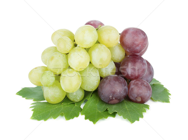 Stock photo: White and red grapes