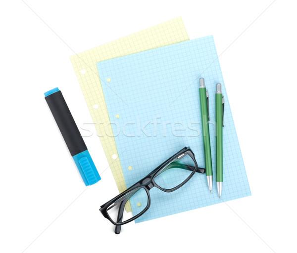 Office supplies and glasses Stock photo © karandaev