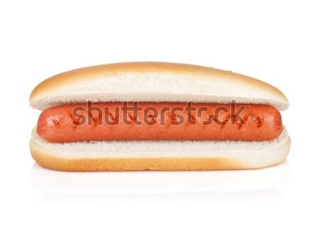 ホットドッグ ケチャップ 孤立した 白 食品 犬 ストックフォト © karandaev