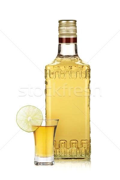 ボトル 金 テキーラ ショット 石灰 スライス ストックフォト © karandaev