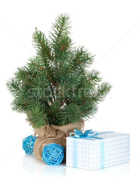 Fake mini Christmas tree Stock photo © karandaev