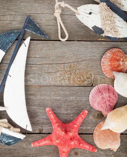 игрушку парусника рыбы ракушки Starfish Сток-фото © karandaev