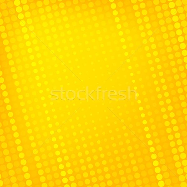 Streszczenie kropkowany żółty tekstury działalności projektu Zdjęcia stock © karandaev