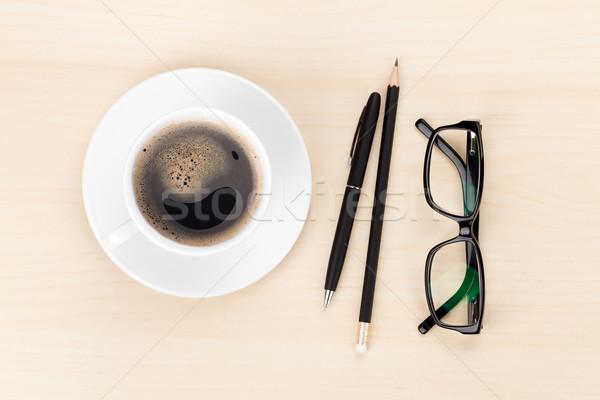 чашку кофе очки служба Сток-фото © karandaev