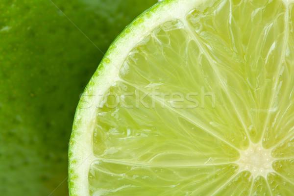 Ripe lime closeup Stock photo © karandaev