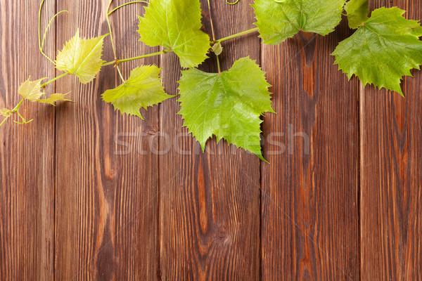 Grape vine on wooden table Stock photo © karandaev