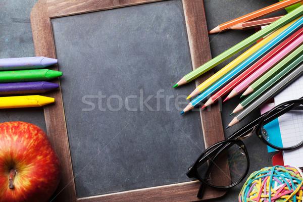 мелом совета текста Снова в школу копия пространства Сток-фото © karandaev