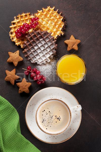 Café jugo bayas superior vista alimentos Foto stock © karandaev