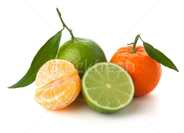 изолированный белый продовольствие лист фрукты лет Сток-фото © karandaev