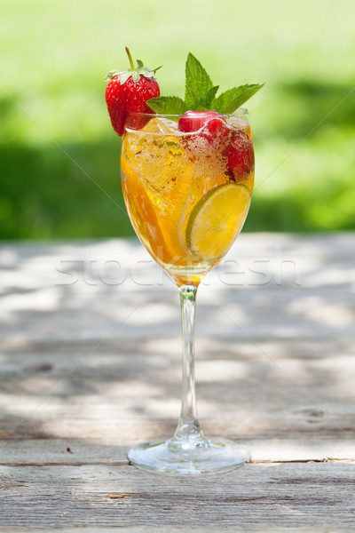 домашний лимонад лет плодов Ягоды Открытый Сток-фото © karandaev