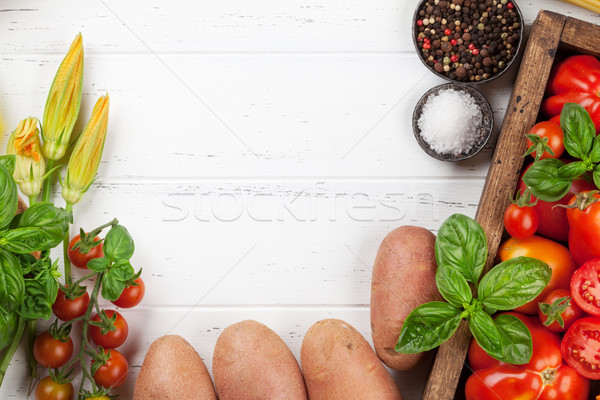 Cuisson table ingrédients haut vue espace Photo stock © karandaev