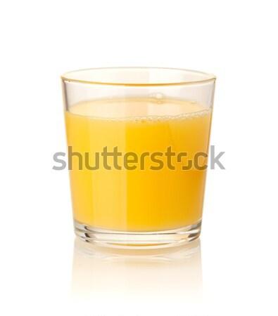 Portakal suyu yalıtılmış beyaz gıda meyve kokteyl Stok fotoğraf © karandaev