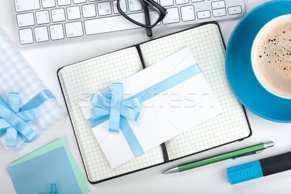 ギフトボックス 手紙 事務用品 クローズアップ ビジネス オフィス ストックフォト © karandaev