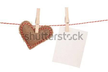 Photo frame and valentines day toy hearts Stock photo © karandaev