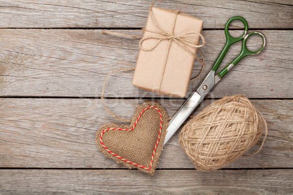 Valentines day gift wrapping Stock photo © karandaev