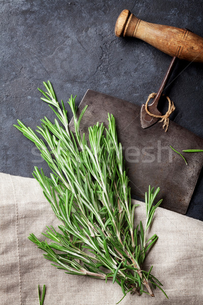 Romarin herbe herbes épices cuisson Photo stock © karandaev