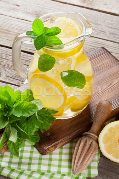 Limonada limão de gelo jardim tabela Foto stock © karandaev