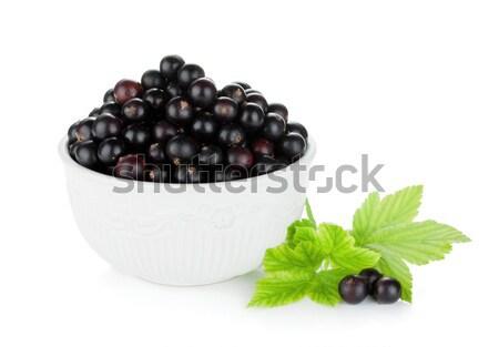 Black currant bowl Stock photo © karandaev