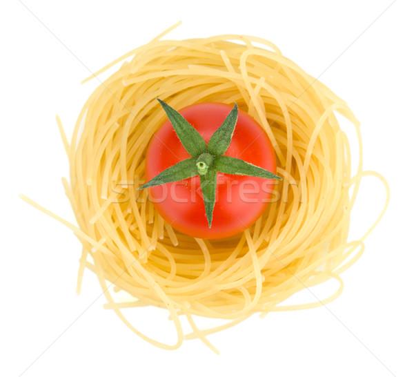 Italiano pasta tomate cherry aislado blanco Foto stock © karandaev