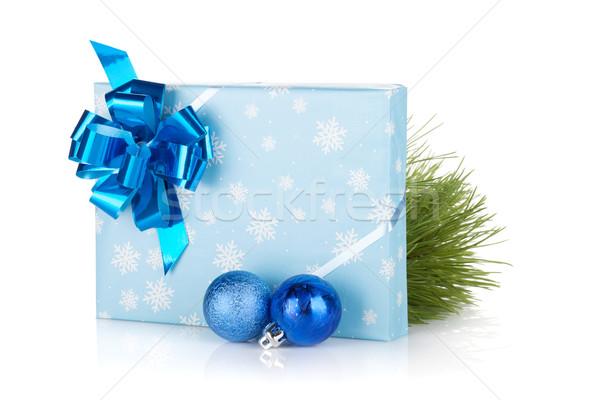 Сток-фото: Рождества · шкатулке · изолированный · белый