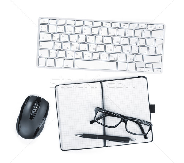 Office supplies, glasses and peripheral devicess Stock photo © karandaev