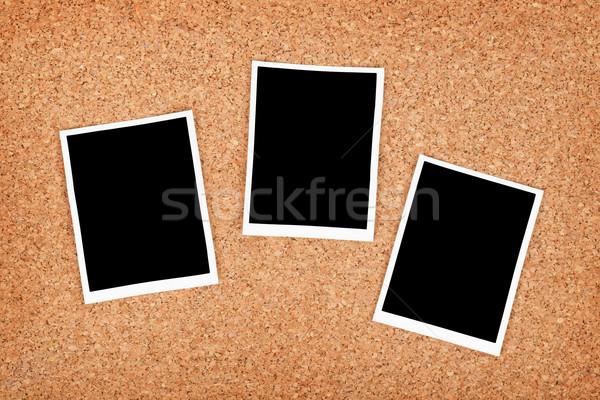 Polaroid fotó keret dugó textúra papír Stock fotó © karandaev
