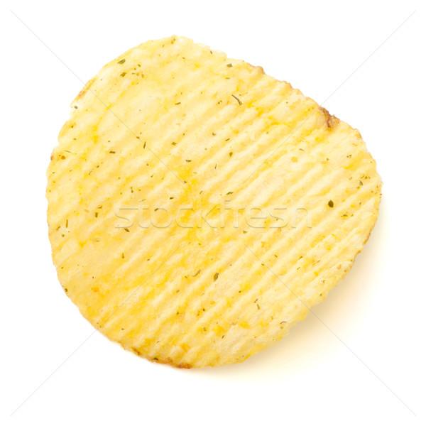 Chips geïsoleerd witte voedsel vet eten Stockfoto © karandaev