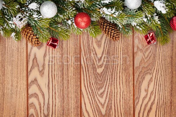 Noël neige bois espace de copie Photo stock © karandaev