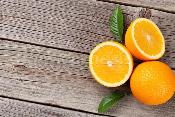 Fresh oranges Stock photo © karandaev