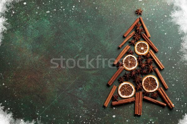 アニス シナモン スパイス クリスマスツリー 先頭 ストックフォト © karandaev
